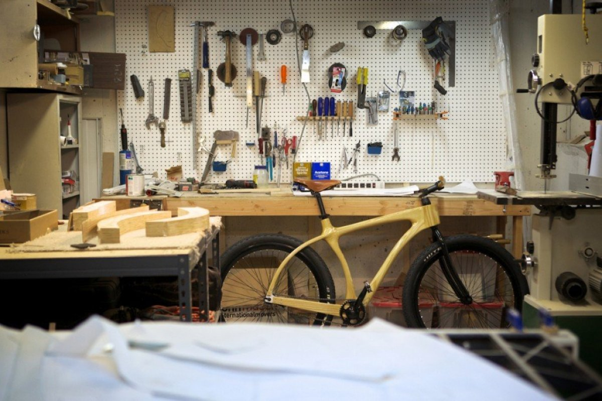 connor proto shop3 จักรยานเฟรมไม้ Connor Wood Bicycles