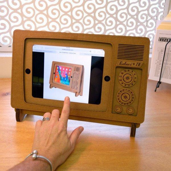 image23 ที่วาง iPad ทำจากกระดาษกล่อง SAFARI TV