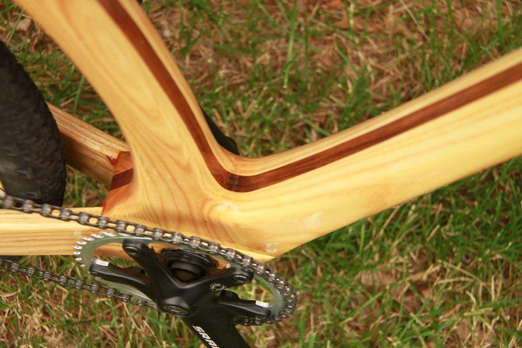 mountain crank จักรยานเฟรมไม้ Connor Wood Bicycles