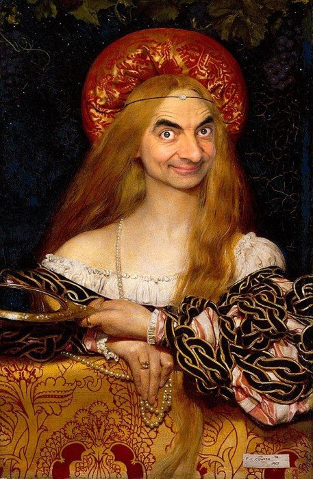 IMG 6098 เมื่อใบหน้า Mr.Bean ไปปรากฏอยู่บนงานศิลปะภาพบุคคลระดับ Master Piece