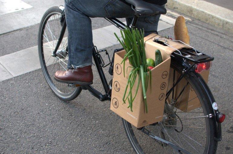 ตะกร้ากระดาษกล่อง..เพื่อนักปั่นในเมือง ใส่ของ จ่ายตลาด ดูดีมีสไตล์ 13 - cardboard