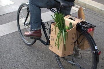 ตะกร้ากระดาษกล่อง..เพื่อนักปั่นในเมือง ใส่ของ จ่ายตลาด ดูดีมีสไตล์ 4 - cardboard