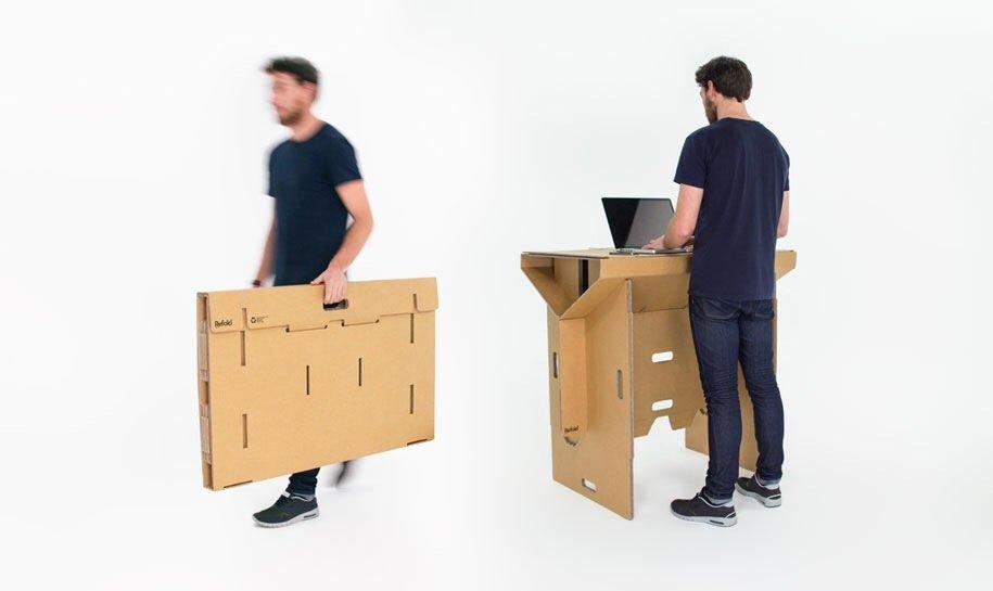 IMG 6401 Cardboard Desk..โต๊ะจากกล่องกระดาษ 100%รีไซเคิล