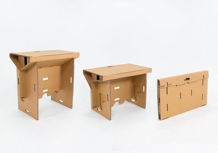 IMG 6402 Cardboard Desk..โต๊ะจากกล่องกระดาษ 100%รีไซเคิล