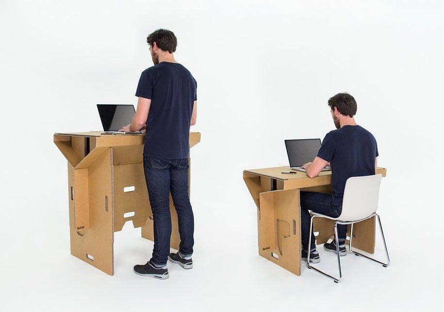 IMG 6403 Cardboard Desk..โต๊ะจากกล่องกระดาษ 100%รีไซเคิล
