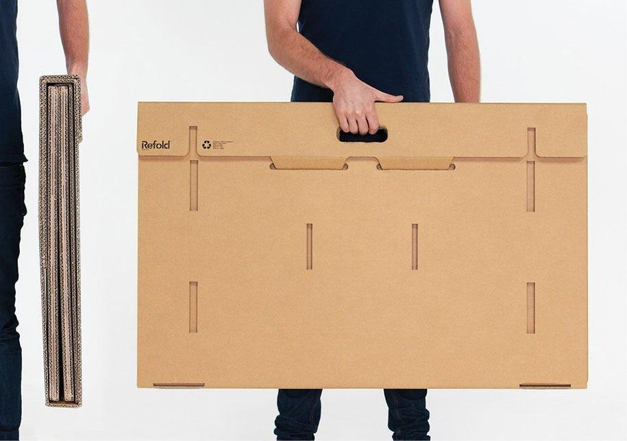 IMG 6405 Cardboard Desk..โต๊ะจากกล่องกระดาษ 100%รีไซเคิล