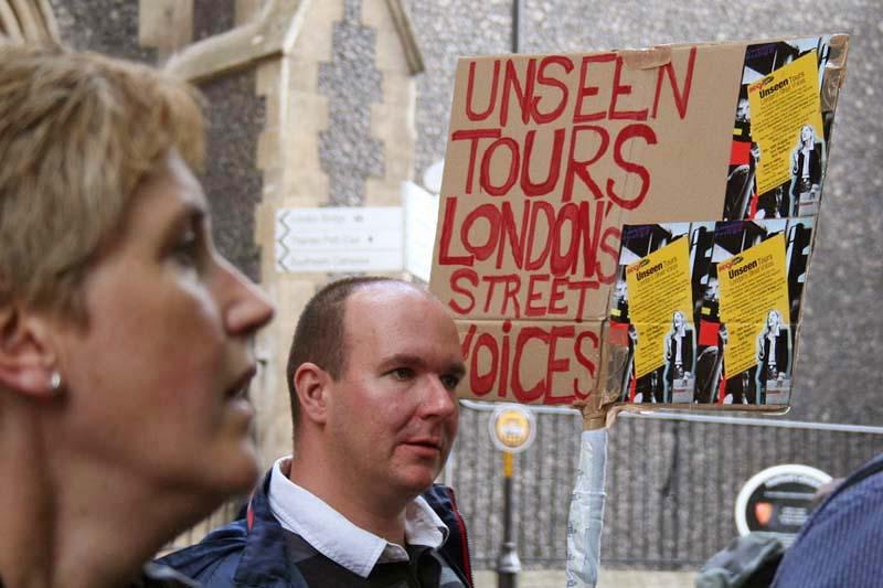 Een rondleiding van Unseen Tours in Londen.