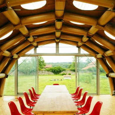 Paper Pavilion โครงสร้างจากแกนกระดาษรีไซเคิล 15 - Environment
