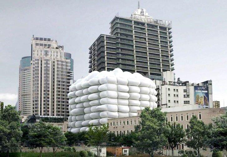 Bubble Building ..ผนังเป่าลม ป้องกันแบคทีเรีย 13 - Architecture