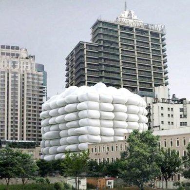 Bubble Building ..ผนังเป่าลม ป้องกันแบคทีเรีย 45 - Architecture