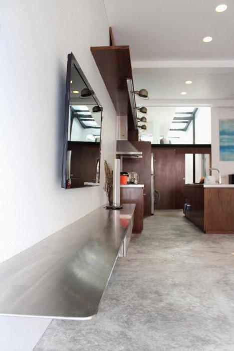 IMG 7432 ปรับปรุงทาวน์เฮาส์เก่า 60ปี เป็นบ้านสมัยใหม่ พื้นคอนกรีต สว่าง โปร่ง โล่ง