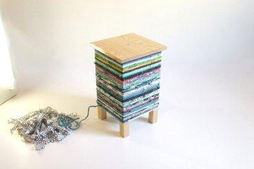 เปลี่ยนเก้าอี้ไม้ธรรมดาๆ เป็นโต๊ะเข้ามุมสีสันสดใส ด้วยถุงพลาสติกถักโครเชต์ 13 - ลดขยะ
