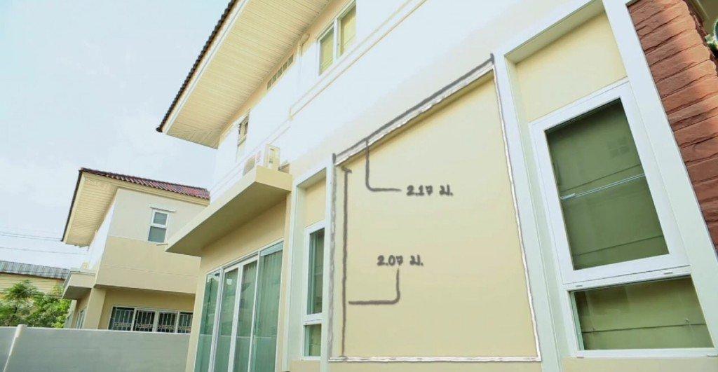 IMG 9145 DIY เปลี่ยนผนังร้อนเป็นระแนงไม้ งามง่ายๆ สบายๆ