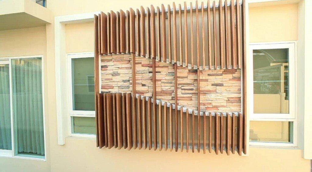 IMG 9166 DIY เปลี่ยนผนังร้อนเป็นระแนงไม้ งามง่ายๆ สบายๆ
