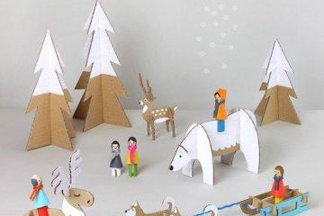 DIY: สวนหรรษาในวันคริสต์มาส Peg dolls Winter Wonderland on Christmas's Day