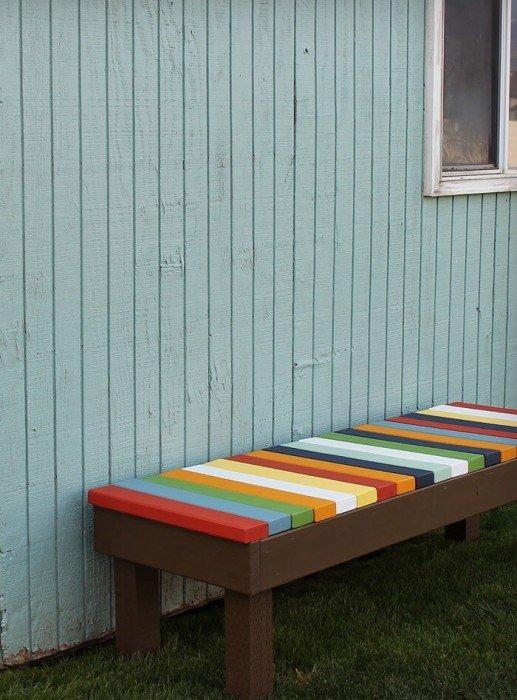 IMG 9425 ไอเดียม้านั่งนอกบ้าน..ทำเองได้ง่ายๆ วัสดุบ้านๆ