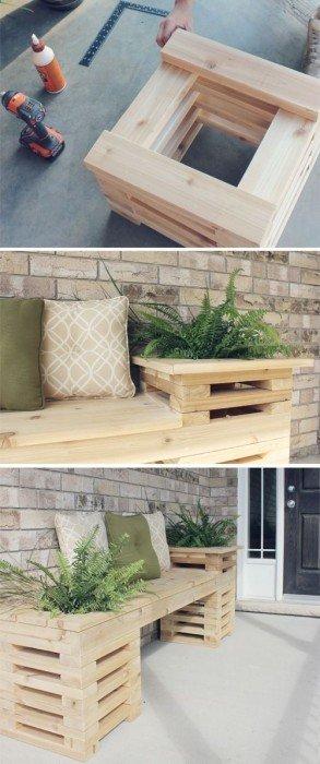 IMG 9426 ไอเดียม้านั่งนอกบ้าน..ทำเองได้ง่ายๆ วัสดุบ้านๆ