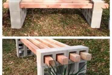 ไอเดียม้านั่งนอกบ้าน..ทำเองได้ง่ายๆ วัสดุบ้านๆ 13 - Bench