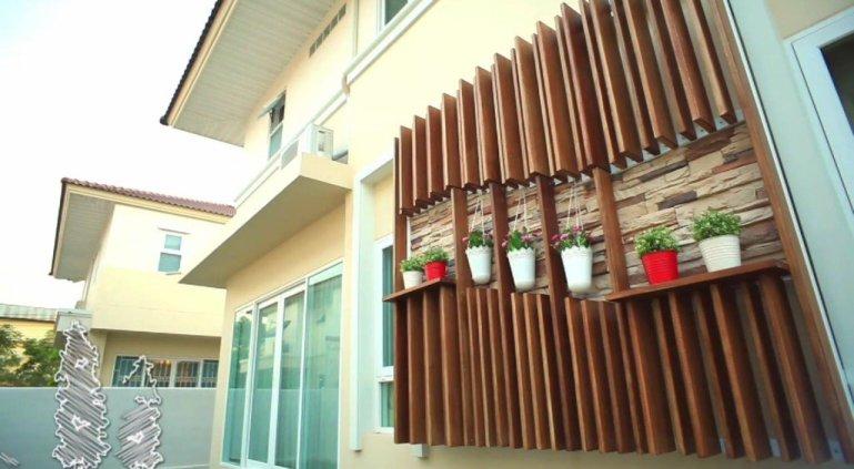 DIY เปลี่ยนผนังร้อนเป็นระแนงไม้ งามง่ายๆ สบายๆ 13 - Tra Chang