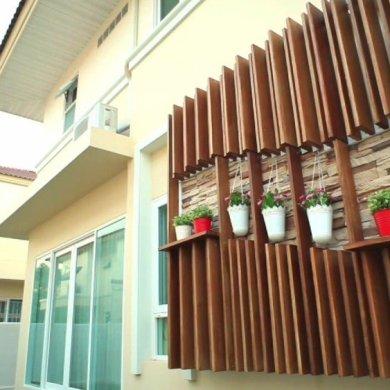 DIY เปลี่ยนผนังร้อนเป็นระแนงไม้ งามง่ายๆ สบายๆ 17 - Tra Chang