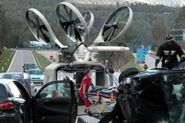 Drone Ambulance..โดรนช่วยเหลือฉุกเฉิน หมดปัญหาการจราจรติดขัด 2 - ambulance