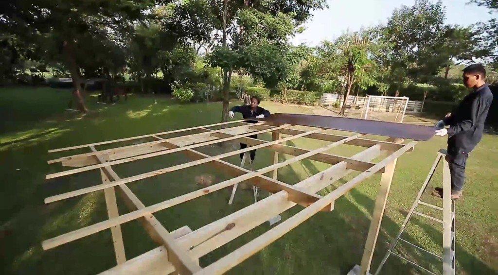 DIY ศาลานั่งเล่นในสวน ทำเองได้ง่ายๆงบไม่บาน 31 - 100 Share+
