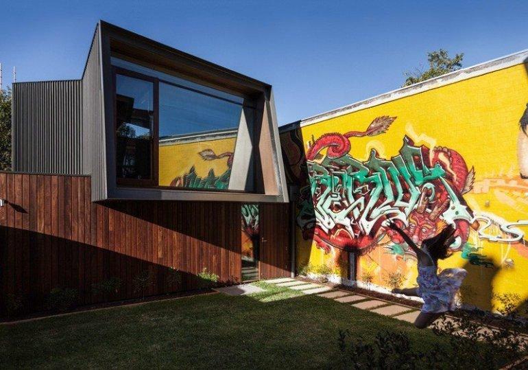 บ้านในเมือง ที่นำเอา งานGraffiti มาเป็นองค์ประกอบของบ้าน 13 - Graffiti