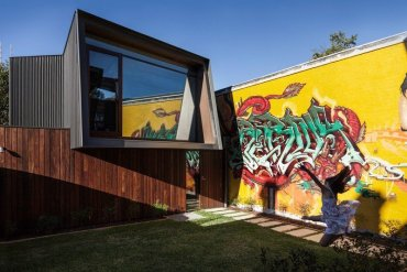 บ้านในเมือง ที่นำเอา งานGraffiti มาเป็นองค์ประกอบของบ้าน 17 - street art