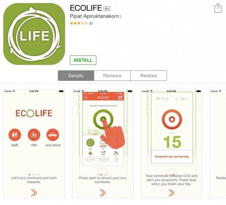 ECO Life app สนุกกับการเดินทาง ได้ประหยัดพลังงาน และสะสมแต้มรับของรางวัล 13 - Eco