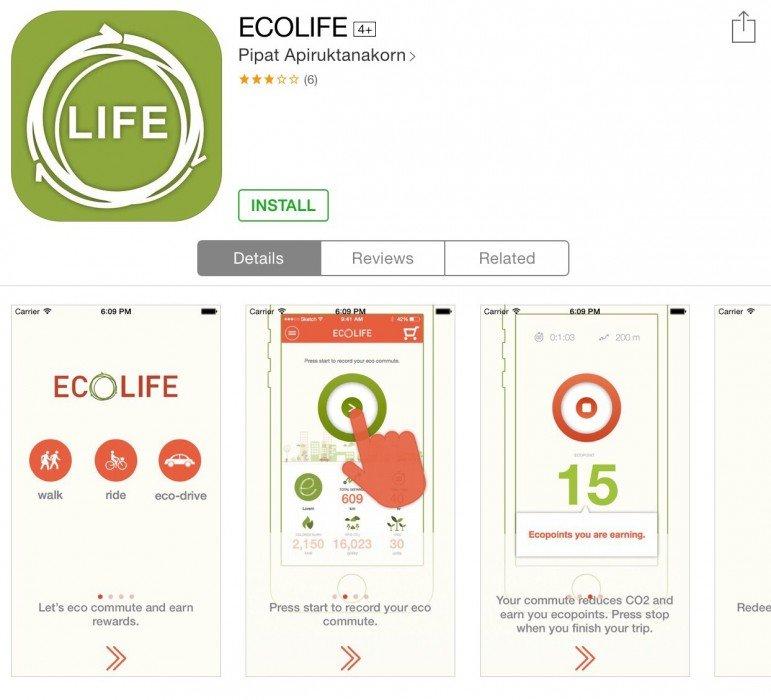 ECO Life app สนุกกับการเดินทาง ได้ประหยัดพลังงาน และสะสมแต้มรับของรางวัล 14 - Eco