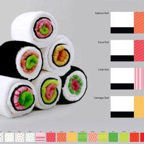 เมื่อผ้าใช้ในครัวกลายเป็นอาหารน่าทาน Sushi Rolls 16 - Gift
