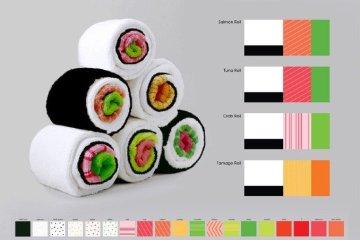 เมื่อผ้าใช้ในครัวกลายเป็นอาหารน่าทาน Sushi Rolls 10 - Gift