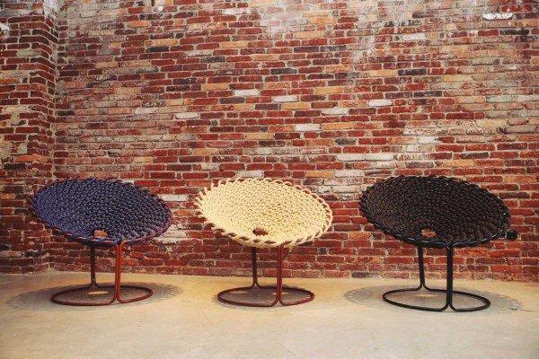 ถักเก้าอี้จากเทคนิคการผูกเชือกเรือ 18 - chair