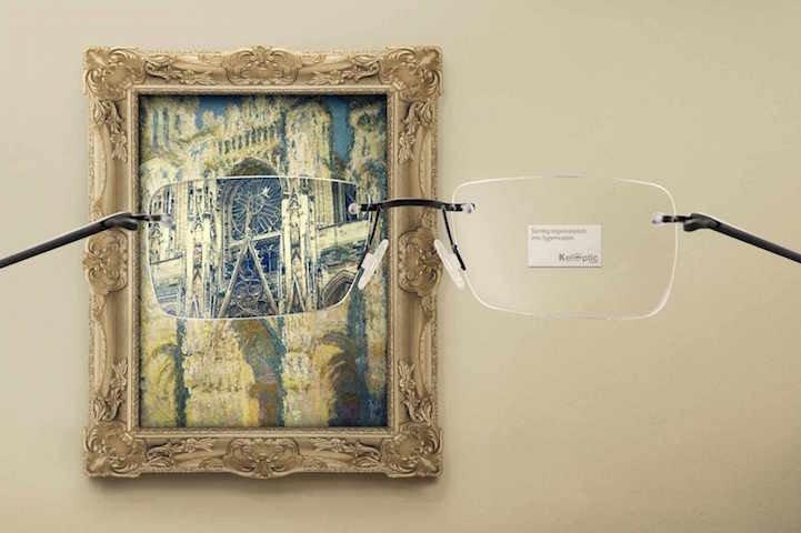 โฆษณาแว่นตา ที่แม้แต่ภาพimpressionist เบลอๆ ยังคมชัดได้! 4 - advertising