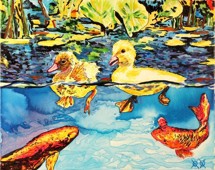 ศิลปินตาบอดสนิท วาดภาพที่เต็มไปด้วยสีสันด้วยการสัมผัส พื้นผิวของสีและผ้า 22 - Art & Design