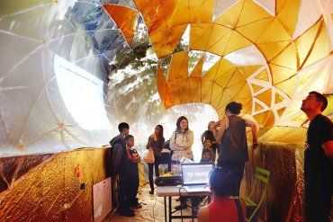 Classroom For Urban Education ถังขยะเหล็กขนาดใหญ่ในพื้นที่สาธารณะกลายเป็นห้องเรียนในเมือง 29 - รีไซเคิล