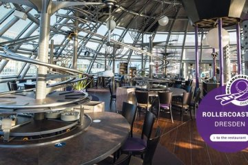 "Roller Coaster Restaurant @ Abu Dhabi เสริฟ์อาหารด้วย ""รถไฟเหาะตีลังกา"""