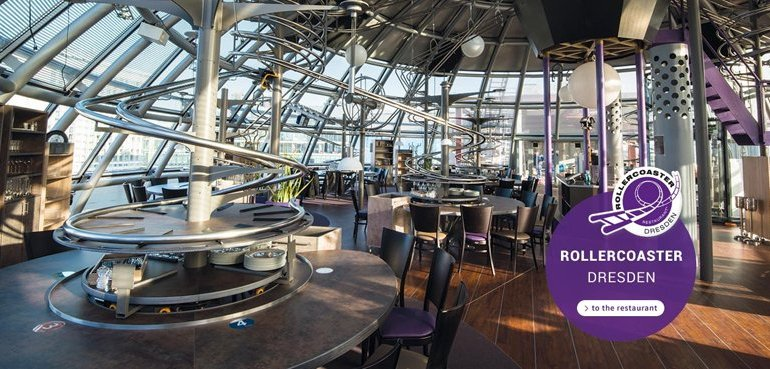"Roller Coaster Restaurant @ Abu Dhabi เสริฟ์อาหารด้วย ""รถไฟเหาะตีลังกา"" 13 - FOOD"