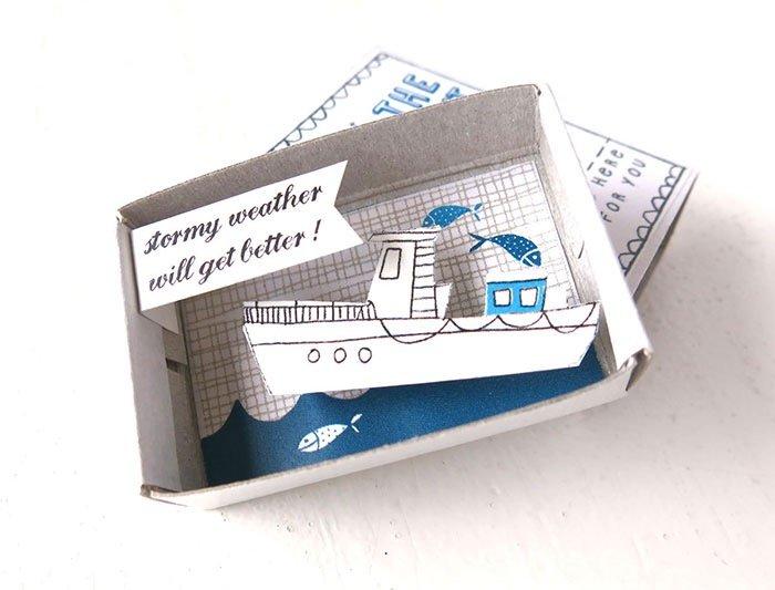 ไอเดียกล่องส่งสารจากใจ ทำจากกล่องไม้ขีดเล็กๆ..มอบความสุขให้ผู้รับ 18 - Art & Design