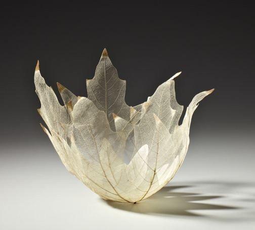 """ดีไซน์งดงามไร้กาลเวลา """"ชามใบไม้"""" สุดยอดไอเดียออกแบบโดย Kay Sekimachi 18 - Japan"""