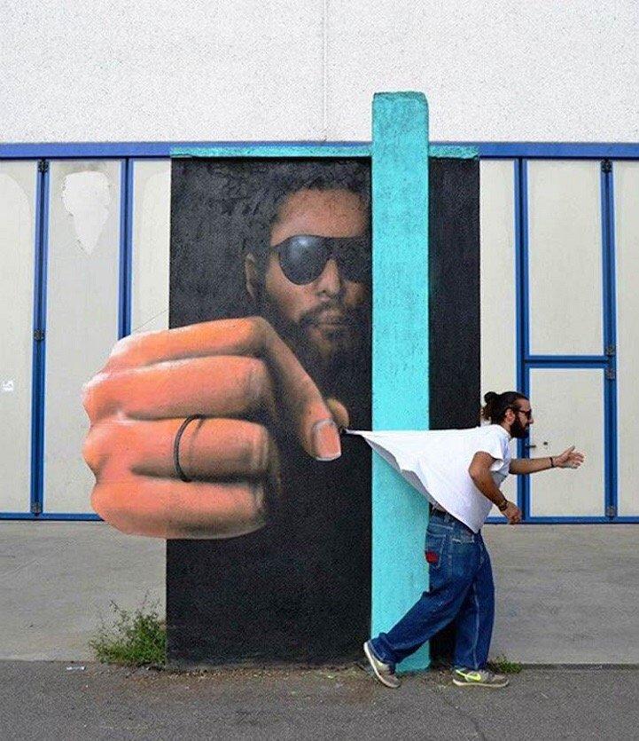 Street Art ที่สร้างเรื่องราวกับสิ่งแวดล้อมได้อย่างสนุก..กระแทกสายตา 16 - Interactive
