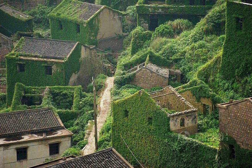 หมู่บ้านชาวประมงในจีน ที่ถูกธรรมชาติยึดพื้นที่คืน 13 - abandon village