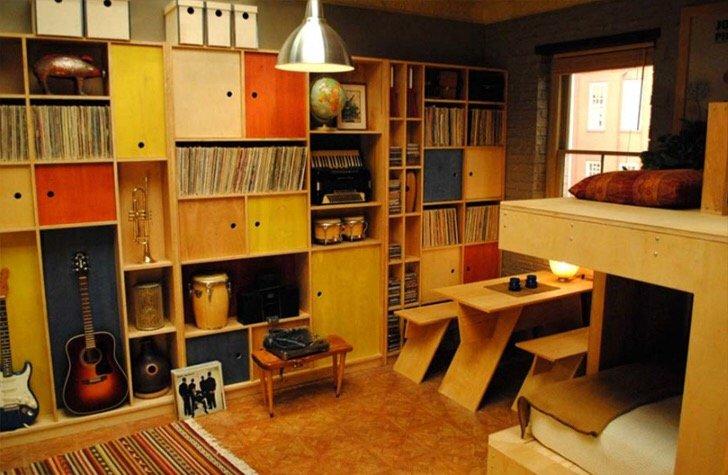 """แบบบ้านสุดเล็กแต่ใช้พื้นที่สุดคุ้มเพียง14 ตรม. จากซีรีย์ """"Girl"""" ทาง HBO 17 - Apartment"""