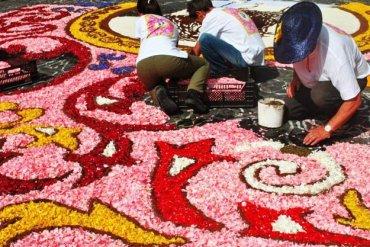 Genzanodi Roma Flower Festival เทศกาลปูพรมดอกไม้ทั่วถนนย่านเมืองเก่าแก่ 13 - natural materials