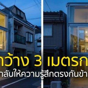บ้านที่เกิดจากพื้นที่ระหว่างอาคาร กว้างเพียง 3.4 เมตร 16 - Japan