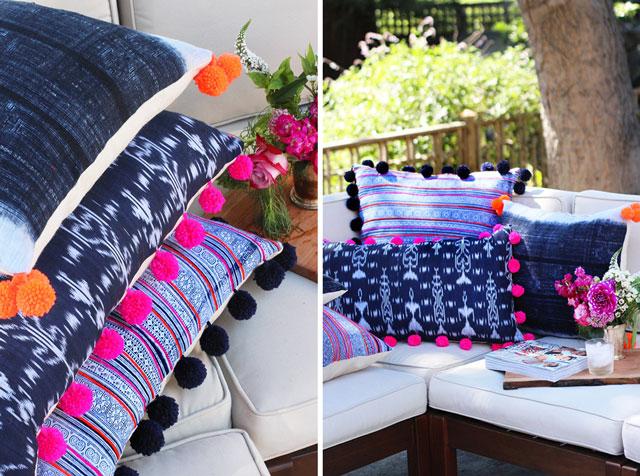 DIY : เพิ่มความน่ารักให้หมอน ด้วยปอมปอมสีสวย 13 - pompom