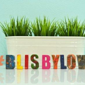 DIY : สีเทียนลายหินอ่อนรูปตัวอักษร #Blisbylove 17 - Instagram