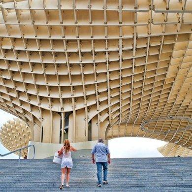 Metropol Parasol สถาปัตยกรรมโครงสร้างไม้ที่ใหญ่ที่สุดในโลก 15 - 100 Share+