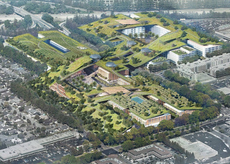 เปลี่ยนหลังคาห้างเก่าเป็นพื้นที่สีเขียวที่ใหญ่ที่สุดในโลกที่ Silicon Valley 14 - Garden