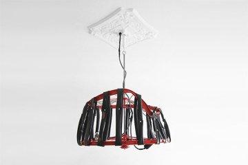 Berlin bike Lamp โคมไฟ D.I.Y จากขยะล้อจักรยาน 4 - DIY